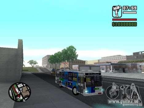 Cobrasma Monobloco Patrol II Trolerbus für GTA San Andreas Rückansicht