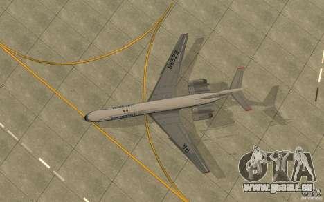 Aeroflot Il-62 m für GTA San Andreas Rückansicht