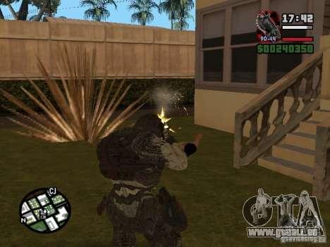 Lokast Grunt de Gears of War 2 pour GTA San Andreas troisième écran