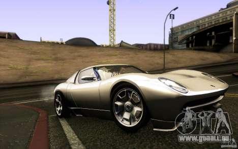Lamborghini Miura Concept für GTA San Andreas Innenansicht