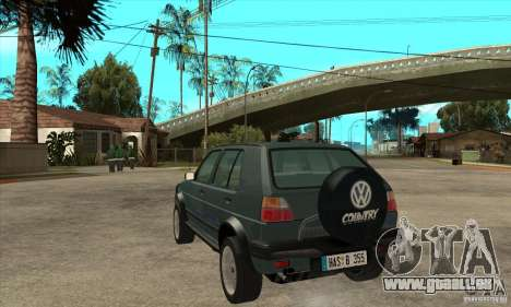 Volkswagen Golf Country MkII Syncro 4x4 1991 pour GTA San Andreas sur la vue arrière gauche