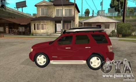 Ford Escape 2009 pour GTA San Andreas laissé vue