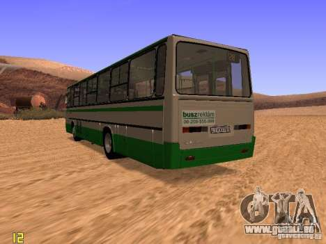 Ikarus C63 pour GTA San Andreas sur la vue arrière gauche