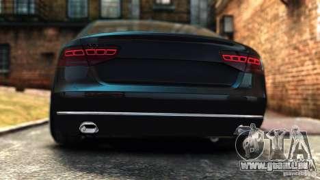 Audi A8 2010 pour GTA 4 Vue arrière de la gauche