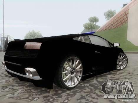 Lamborghini Gallardo LP-560 Police pour GTA San Andreas laissé vue