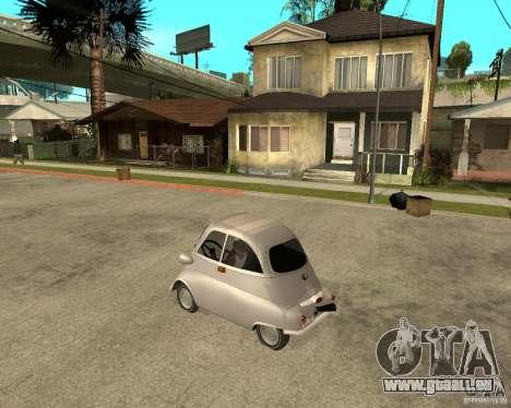 BMW Isetta pour GTA San Andreas laissé vue