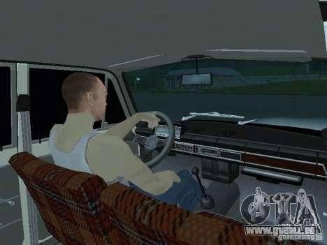 Vaz 2101 blanc enfants pour GTA San Andreas sur la vue arrière gauche