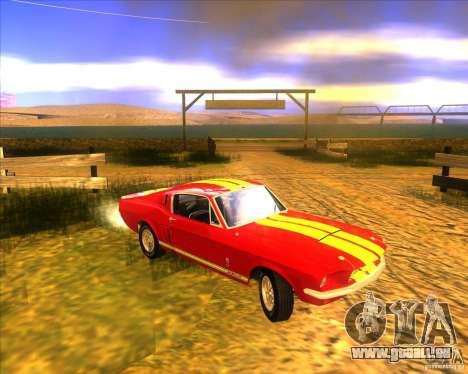 Shelby GT500 1967 pour GTA San Andreas vue intérieure