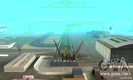 YF-22 Grey pour GTA San Andreas vue de côté