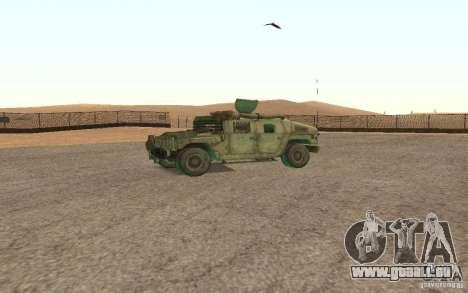 Hummer Spec Ops The Line für GTA San Andreas Rückansicht