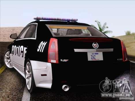 Cadillac CTS-V Police Car pour GTA San Andreas laissé vue