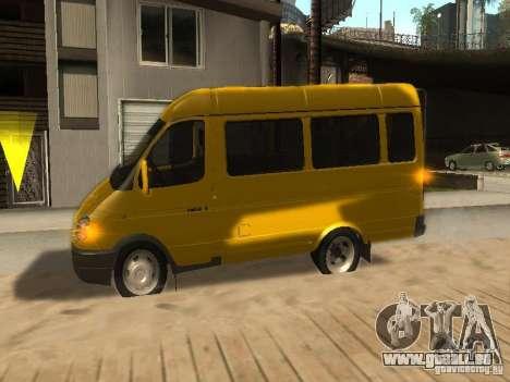 Taxi de Gazelle 2705 pour GTA San Andreas vue intérieure