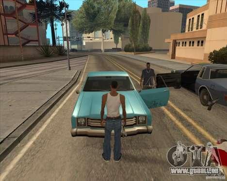Pilotes de sortir de la voiture pour GTA San Andreas deuxième écran