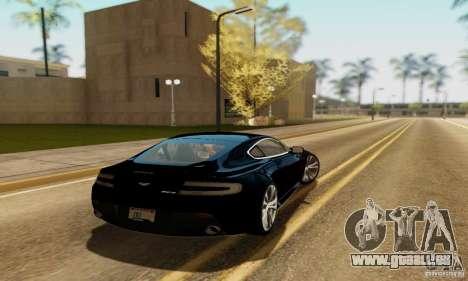 Aston Martin V12 Vantage pour GTA San Andreas laissé vue