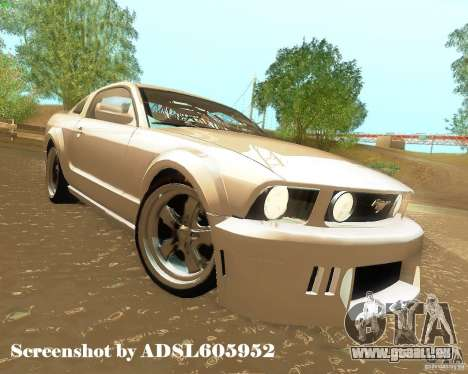 Ford Mustang GT 2005 Tunable pour GTA San Andreas vue de dessus