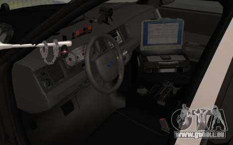 Ford Crown Victoria Police Interceptor LSPD pour GTA San Andreas vue arrière