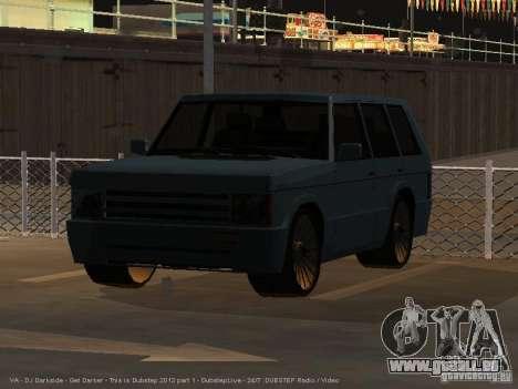 New Huntley pour GTA San Andreas sur la vue arrière gauche