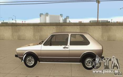 Volkswagen Golf Mk1 - Stock pour GTA San Andreas laissé vue