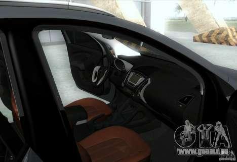 Hyundai ix35 für GTA San Andreas Innen