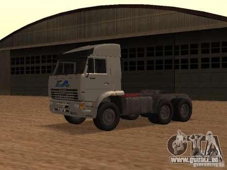 KAMAZ 6460 pour GTA San Andreas laissé vue