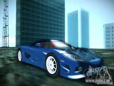 Koenigsegg CCXR Edition pour GTA San Andreas sur la vue arrière gauche