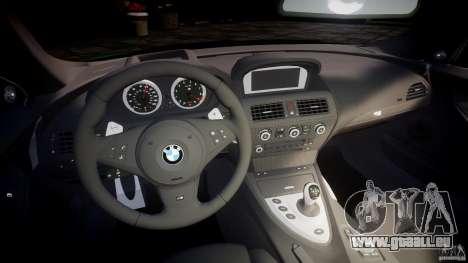 BMW M6 2010 v1.0 pour GTA 4 Vue arrière