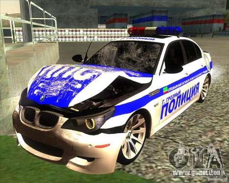 BMW M5 E60 Police pour GTA San Andreas salon