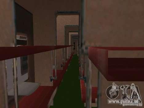 Voiture de tourisme RZD pour GTA San Andreas vue de droite