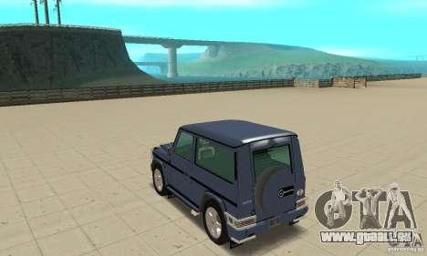 Mercedes-Benz G500 1999 Short [with kangoo v2] pour GTA San Andreas sur la vue arrière gauche