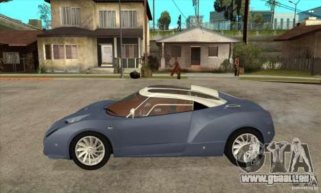 Spyker C12 Zagato für GTA San Andreas linke Ansicht