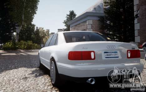 Audi A8 2000 pour GTA 4 Vue arrière