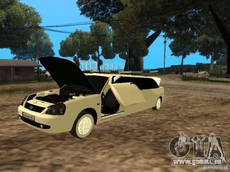 LADA Priora 2170 Limousine für GTA San Andreas zurück linke Ansicht