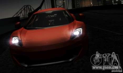 McLaren MP4-12C TT Black Revel pour GTA San Andreas vue intérieure
