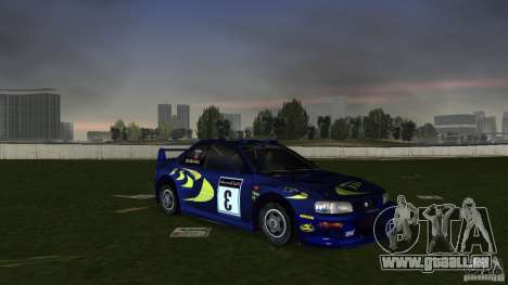 Subaru Impreza 22B Rally Edition für GTA Vice City Rückansicht