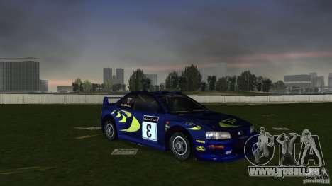 Subaru Impreza 22B Rally Edition pour GTA Vice City vue arrière