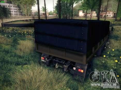 6316 KrAZ pour GTA San Andreas sur la vue arrière gauche