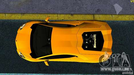 Lamborghini Aventador LP 700-4 für GTA Vice City Rückansicht