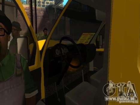 Gazelle 2705-taxi für GTA San Andreas Rückansicht