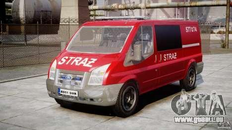 Ford Transit Polish Firetruck [ELS] für GTA 4