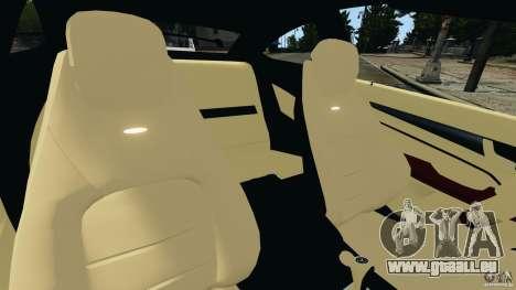 Mercedes-Benz C63 AMG 2012 pour GTA 4 est une vue de l'intérieur