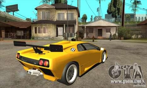 Lamborghini Diablo GT-R 1999 für GTA San Andreas rechten Ansicht
