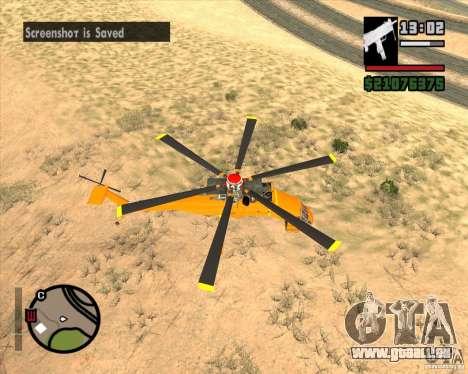 Skylift pour GTA San Andreas sur la vue arrière gauche