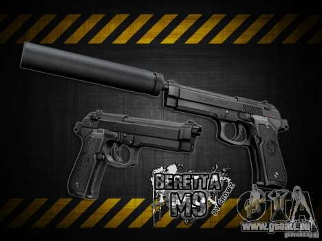 Barreta M9 and Barreta M9 Silenced für GTA San Andreas