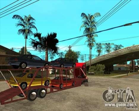Auflieger-LKW für GTA San Andreas Seitenansicht