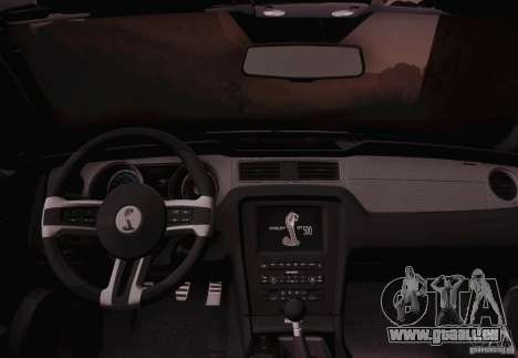 Ford Shelby GT500 2013 für GTA San Andreas rechten Ansicht
