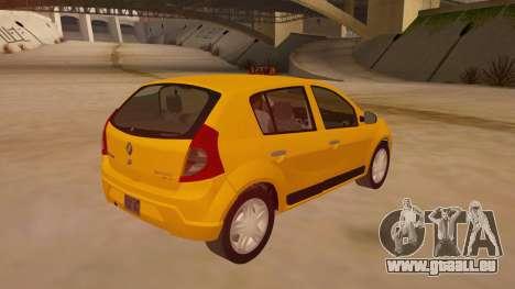 Renault Sandero Taxi pour GTA San Andreas vue de droite