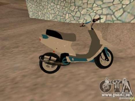MBK Booster pour GTA San Andreas sur la vue arrière gauche