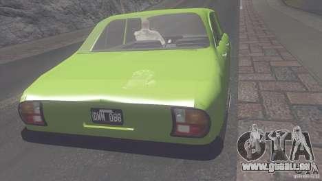 Peugeot 504 pour GTA San Andreas sur la vue arrière gauche
