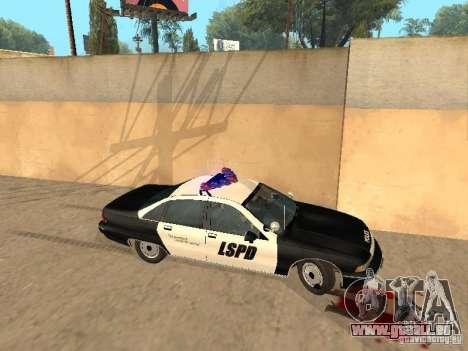 Chevrolet Caprice 1991 LSPD pour GTA San Andreas laissé vue
