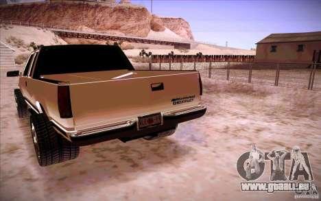 Chevrolet Silverado 3500 für GTA San Andreas zurück linke Ansicht
